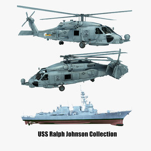 3D 2 uss ralph johnson model