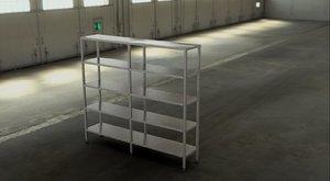 3D shelving stainless steel model