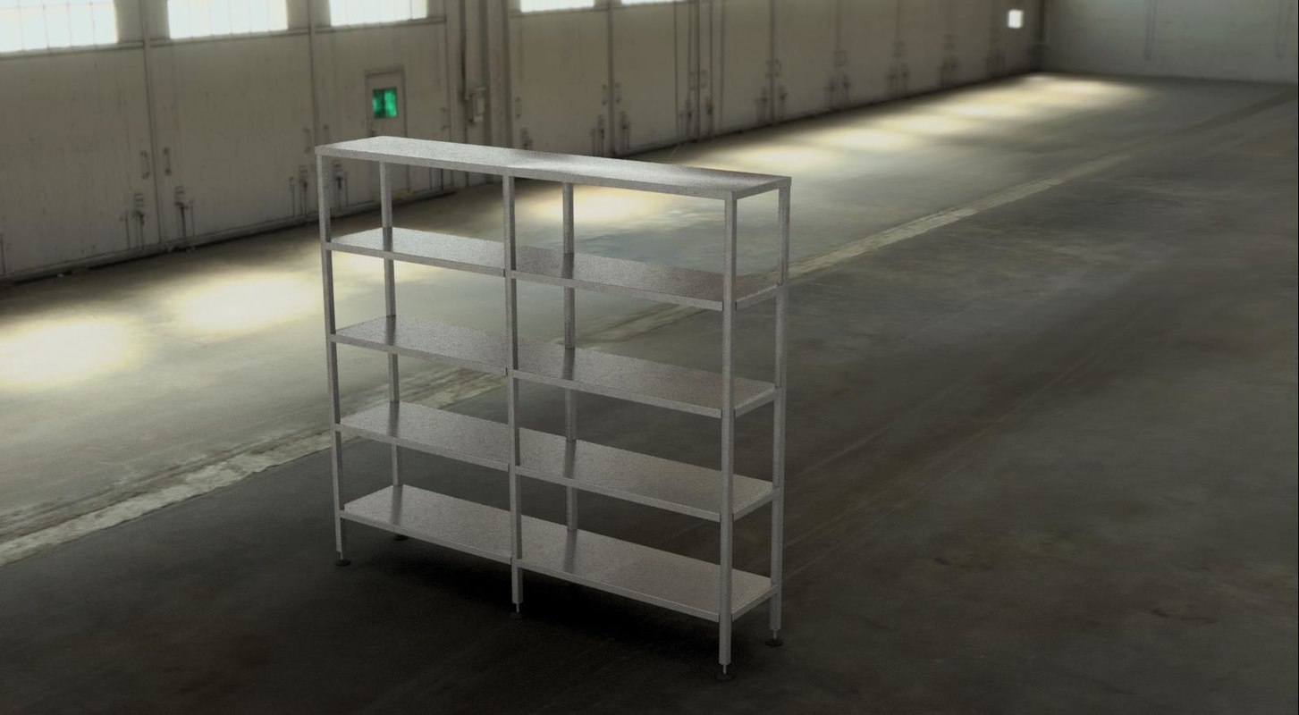 3D shelving stainless steel model