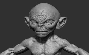 3D goblin character
