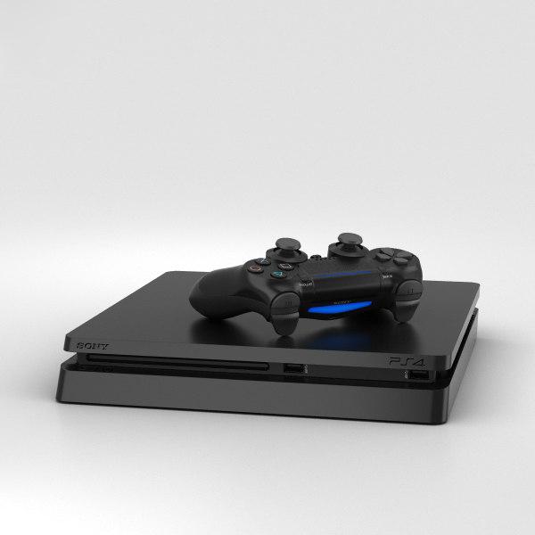 3D model sony playstation 4