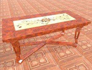 luxury table 3D model