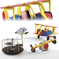 baby equipment set 3D