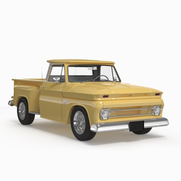 3D model c10 1966 yellow