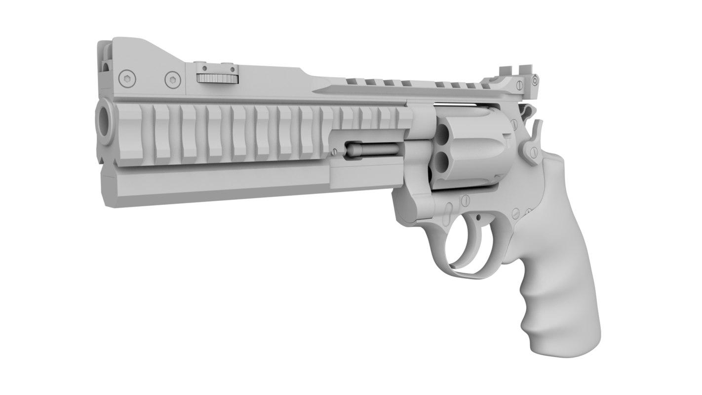 nighthawk korth revolver 3D
