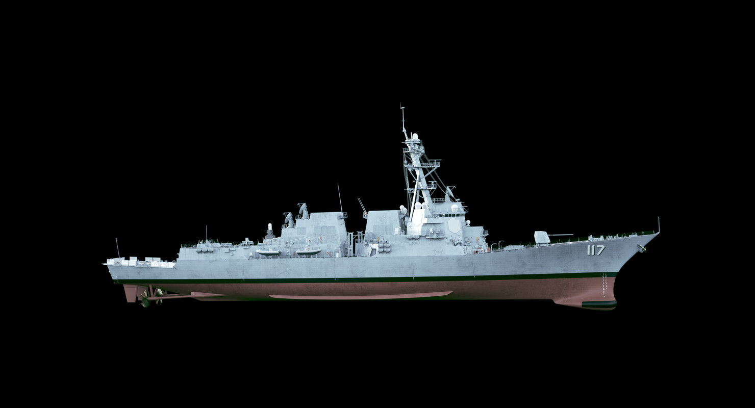 2 uss paul ignatius 3D model