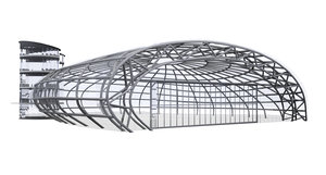 hangar 7 salzburg airport 3D model