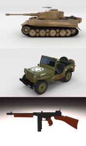 pack ww2 tank 3D