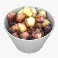 3D rotten pears