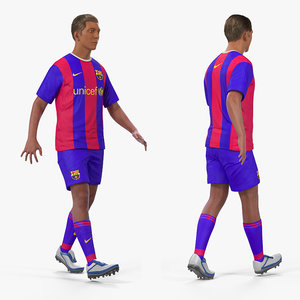 soccer football player barcelona 3D
