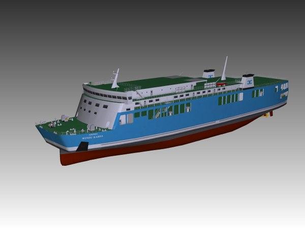 3D ro-ro ferry model
