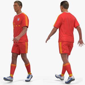 soccer football player bayern model