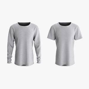cotton male t-shirts dropped 3D model