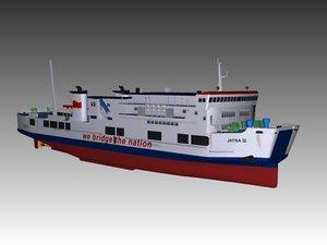 ro-ro ferry 3D model
