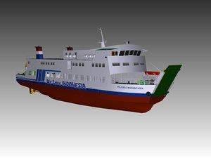 3D ro-ro ferry