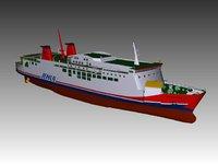 ro-ro ferry model