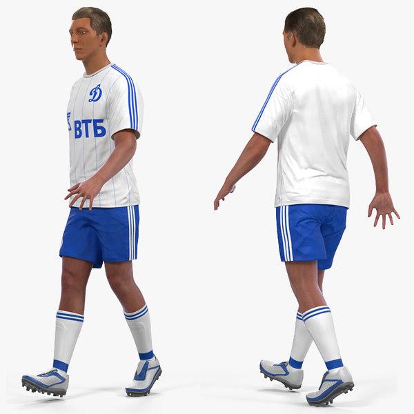 3D soccer football player dynamo