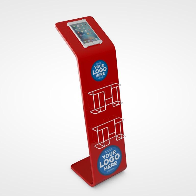 3D brochure stand
