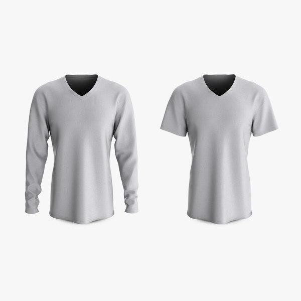 cotton male t-shirts dropped 3D model