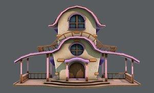 3D model house cartoon v01