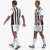 3D soccer football player juventus