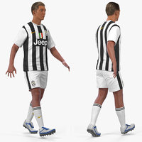 soccer football player juventus 3D