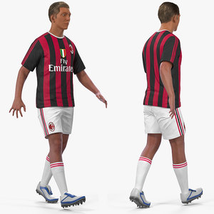 soccer football player milan 3D