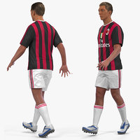 soccer football player milan 3D model