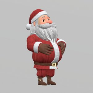 santa clause character rigging 3D model