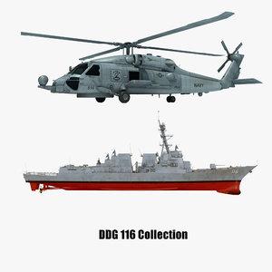 3D model 2 uss sh-60b