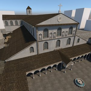 3D old saint peters rome