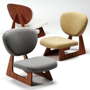 tendo mokko lounge chair 3D model