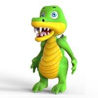 3D crocodile toon model
