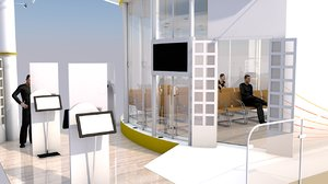 3D expo stand conference 8m