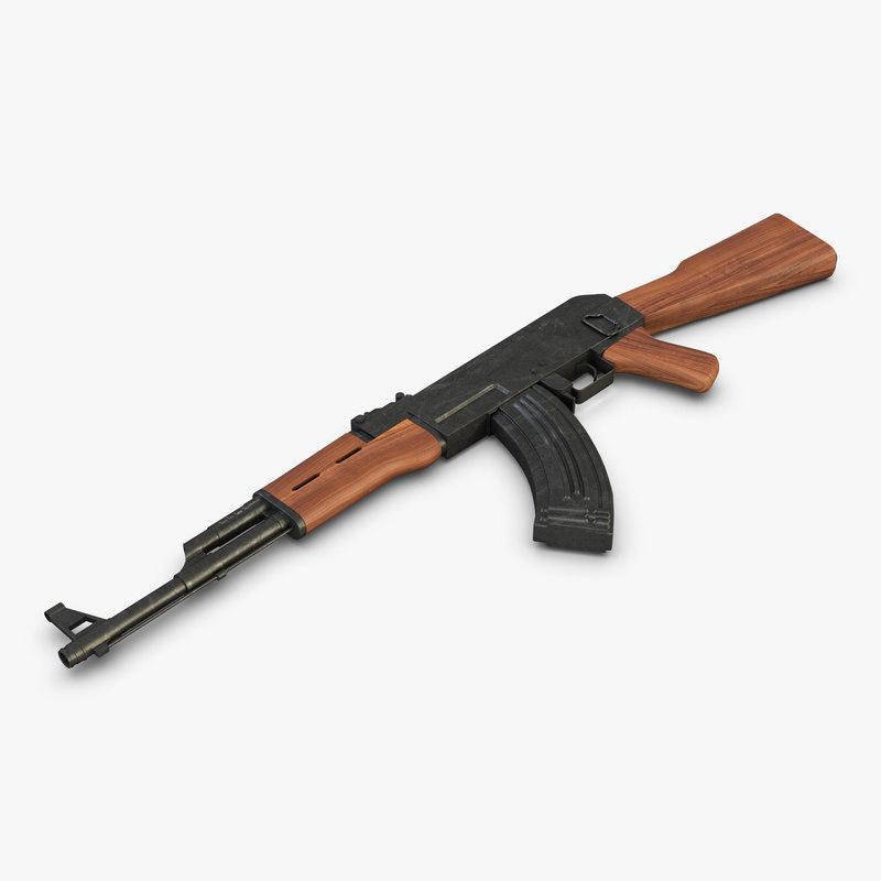 ak 47 ak-47 3D model