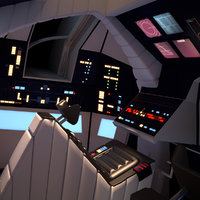 3D cockpit 2001: space odyssey model