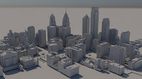3D philadelphia downtown model