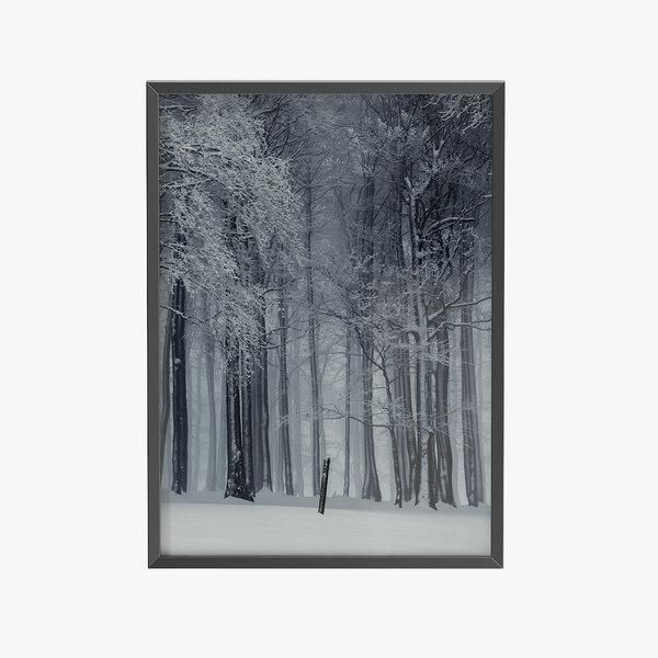 picture black frame 3D