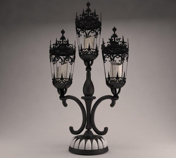3D candlestick