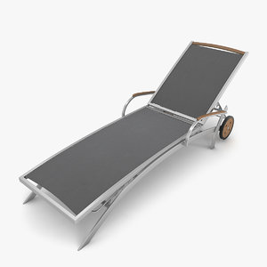 3D model steel sun lounger