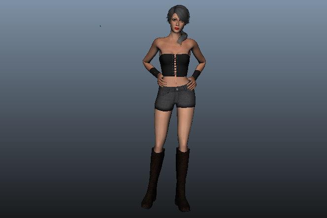 3D betty female beauty