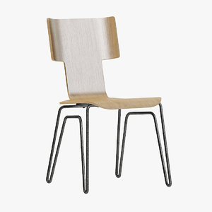 3D simple plywood chair model
