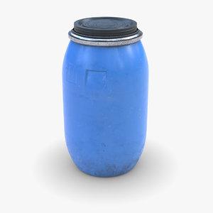 3D model plastic barrel