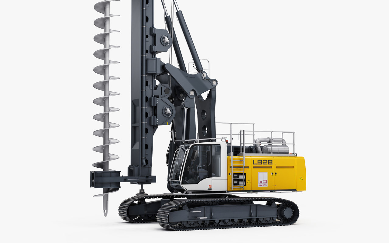 liebherr lb 28-320 drilling rig 3D model