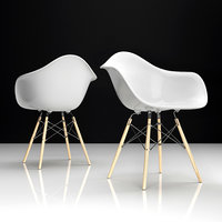 3D eames daw plastic chair
