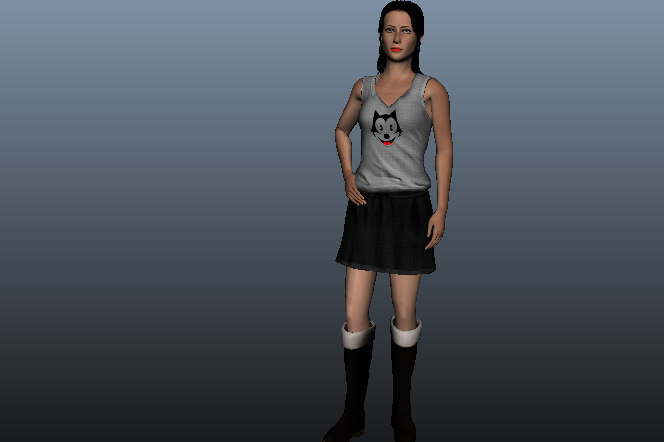3D katy female beauty model
