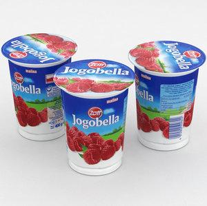 yoghurt 3D model