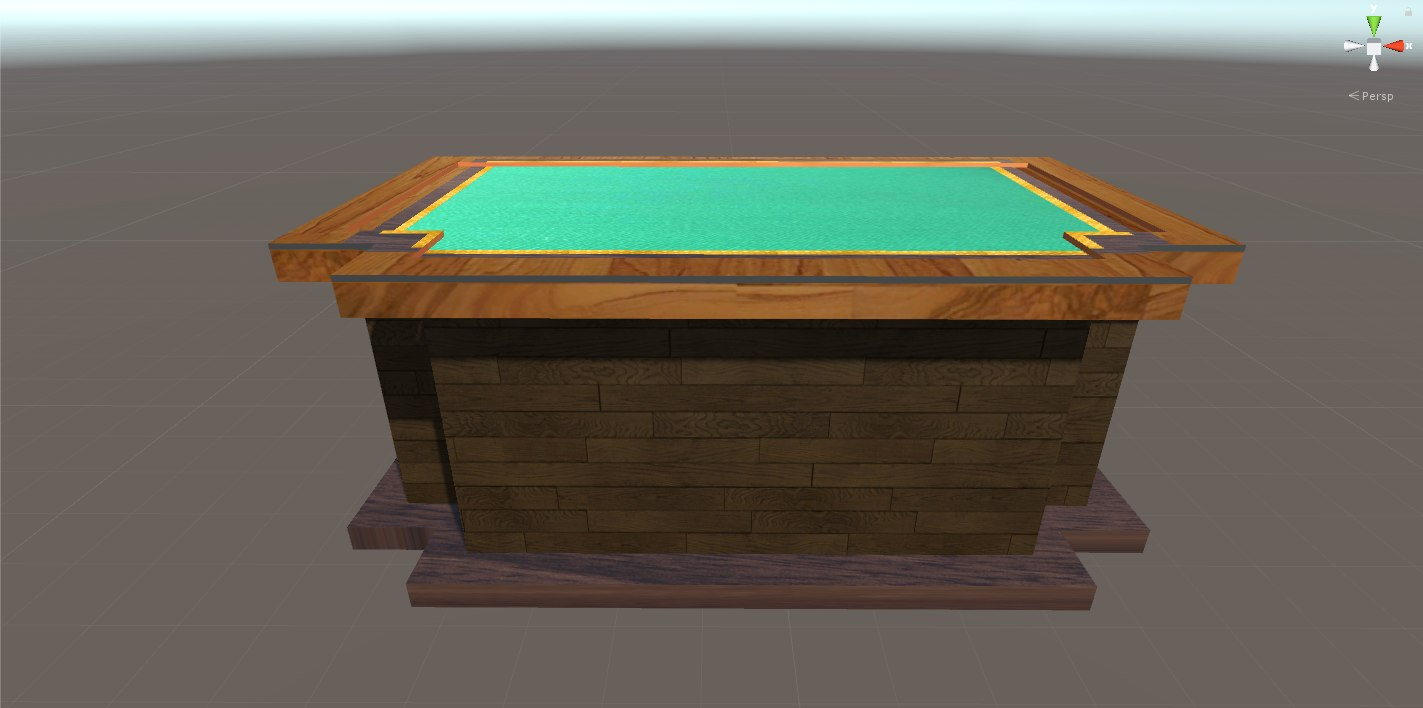 3D classic office table