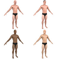 pack base man briefs 3D model