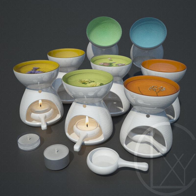 3D oil burner accent colour